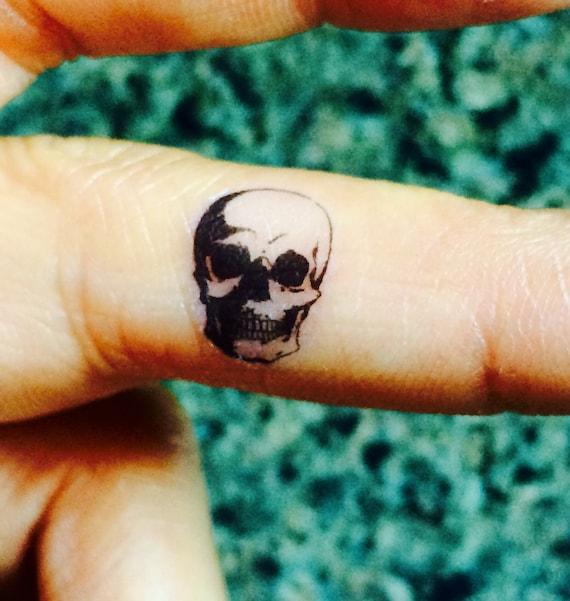 5 halloween skull temporary tattoo tiny fake tattoos set for Halloween temporary tattoos