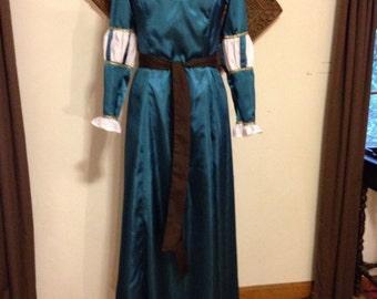 Renaissance, Celtic, Viking, Disney Brave Merida Dress for Little Girls 2T to 10