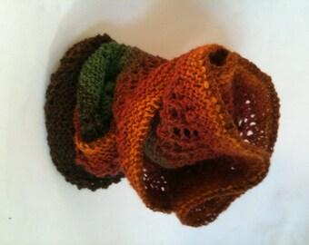 Hand knit, Bandana Wrap/Shawl
