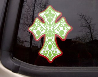 Cross Car Decal
