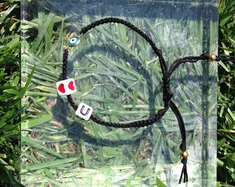 I <3 U Friendship Bracelet