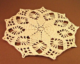Feather and Star Doily