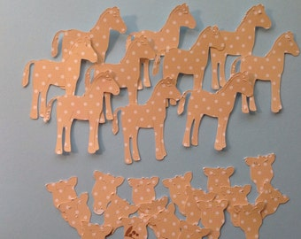 Clearance- Die Cut Polka Dotted Horses (974)