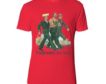 UGP - Sconnie - Together WI Win - Unisex T Shirt - Heather Red