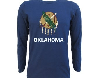 Oklahoma State Flag Long Sleeve - Navy