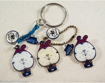 Hand drawing Otaku & Sailor skirt keychain and pin