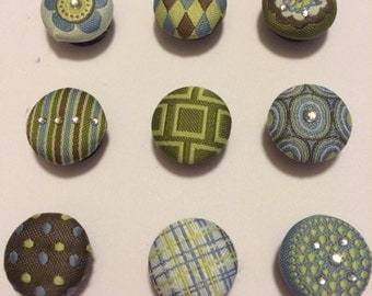 Decorative Fabric Covered Magnets