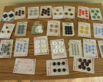 Twenty Five Cards of Buttons