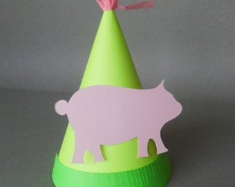 Pig Themed Party Hats