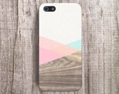 iPhone 6 Case Wood Print Accessories Mint Pastel Cute iPhone Cover iPhone 4s Case Color block iPhone Case Geometric Cases Unique iPhone Case