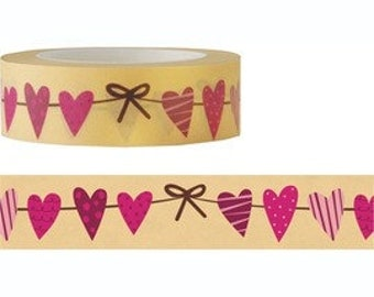 Love Heart Washi / Masking Tape - 10M