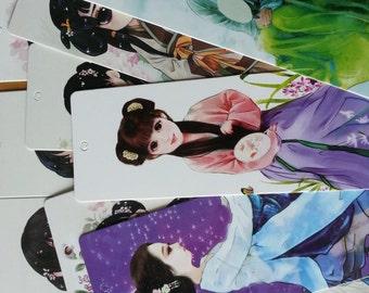 Chinese Girl Bookmark Set - 20 Sheets