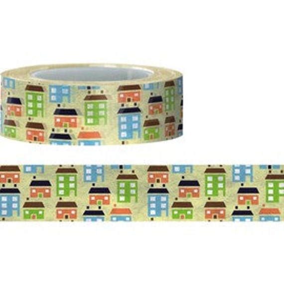 Crazy Sales : Lovely House Washi Tape 1 Roll 15mm X 15M