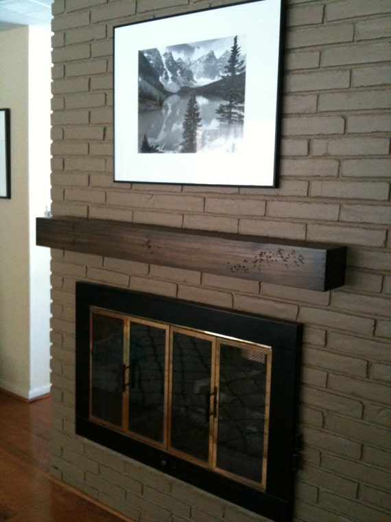 Floating Modern Rustic Fireplace Mantel