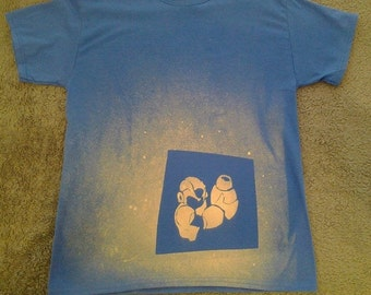 Mega Man inspired Bleach Shirt - Hand Made