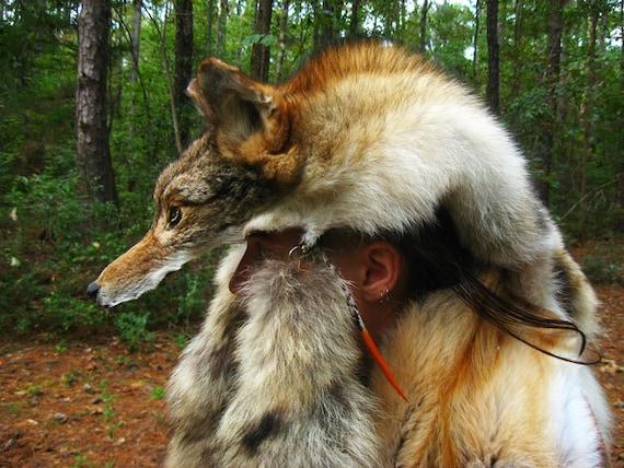 how to make a coyote headdress