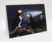 Puffins Christmas / Holiday Photo Greeting Card