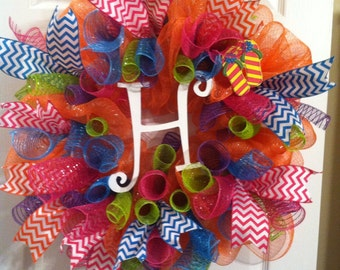 Chevron Spring/Summer Wreath