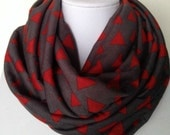 Totally Geometric Infinity Scarf - Soft Cotton Jersey