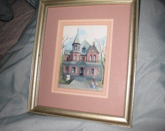 "BONNIE HOLDEN 1989 The Doctor Is In 9"" X 11"" Silver Color Wood Frame"