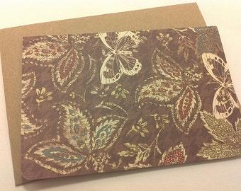 Woodland Butterflies/ blank note card set