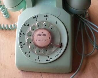 Vintage Mint Rotary Phone