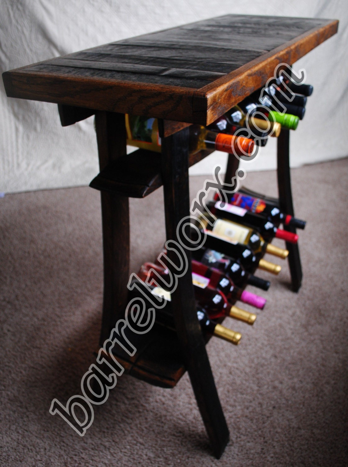 Barrel Stave Wine Tasting Table