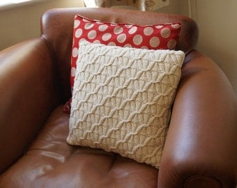 Cable Knit Cushion Pillow Cover Cream - AVEBURY