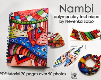 SALE 30% off, Polymer clay tutorial, PDF tutorial, Nambi technique, Original tutorial, DIY craft idea, Step by step instructions,