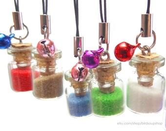 Mini Colored Sand Phonestrap