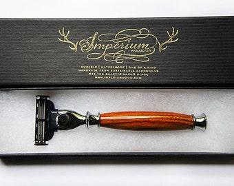 Wooden Razor Handle Gillette Mach 3 Venus Handmade Razor Waterproof Shaving Razor Wet Shaving Gifts For Him Shaving Kit Shaving Handle