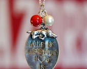 "Arkansas Razorback ""Home is where your hog is"" Necklace with Charms"