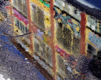 Reflection in 5 Pointz, NYC, Abstract Colorful 5ptz Fine Art Photograph