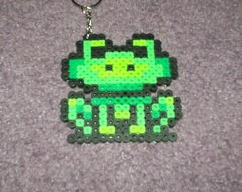 Super Mario Frog Suit keychained perler sprite
