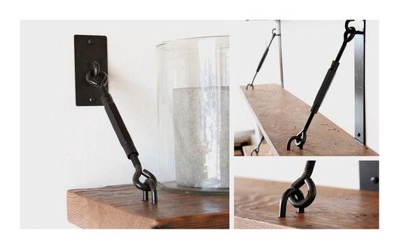 Single Turnbuckle Shelf Bracket Assembly For Floating Shelves