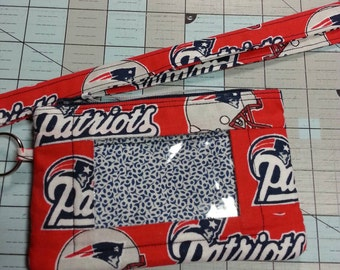 New England Patriots Wallet with ID Window and  Lanyard
