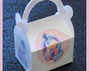 eeyore favor box, eeyore baby shower favor, eeyore birthday favor box