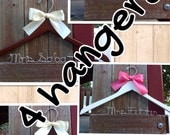 FOUR wedding hangers / SHIPS From USA / Personalized Wedding Hanger / Brides Hanger