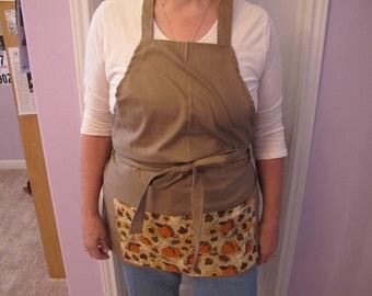 BBQ style apron autumn fabric