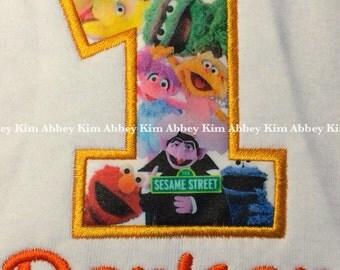 Age appliqué Sesame street t shirt
