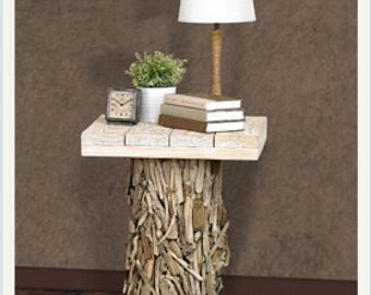 Bedside Table/End Table Driftwood