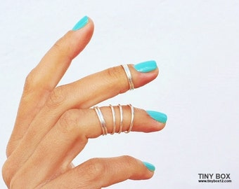 7 Knuckle Rings, Midi Ring, Silver Knuckle Ring, Rose Gold Midi Rings, Gold Knuckle Rings, Above The Knuckle Rings, Thin Rings,Ring Set of 7