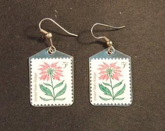 Vintage 5c Stamps Earrings