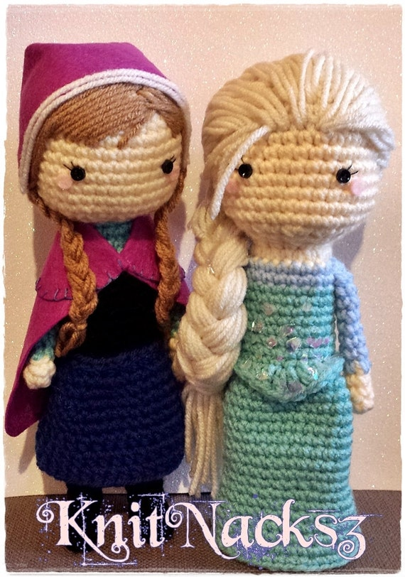 Amigurumi Elsa Ve Anna : Items similar to Princess Crochet Doll Plush on Etsy