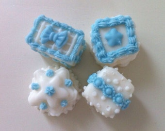 Petite Fours (blue and white)