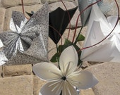 Black, White & Gray Origami Flower Bouquet