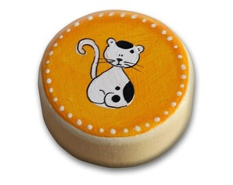Cat Nursery, Orange Nursery Decor, Kids Knobs, Knobs and Pulls, Knobs Drawer Pulls, Dresser Knobs and Pulls, New Born Gift Idea,Toddler Gift