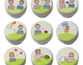 Nursery Knobs, Knobs for Dresser, Boys Room Décor, Kids Knobs, Girls Drawer Knobs, Dresser Knobs Kids, Girls Room Art, Drawer Pulls