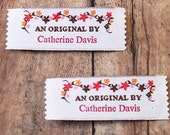 Sew on Woven Clothing Labels, Fabric Labels, Knit Labels An Original By imprinted with 1 line of text custom clothing Labels