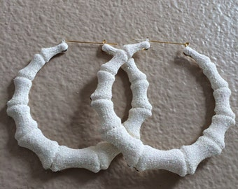Purity All White Bamboo Earrings